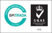 Logótipo UKAS Management Systems ISO 9001